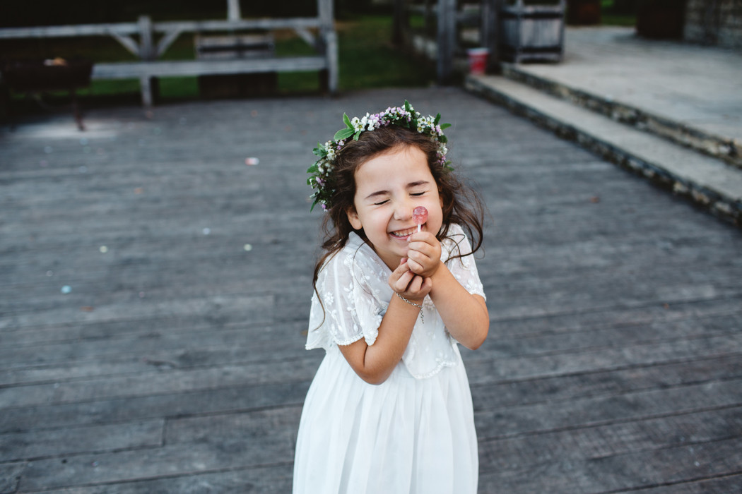 flower girl at cripps barn