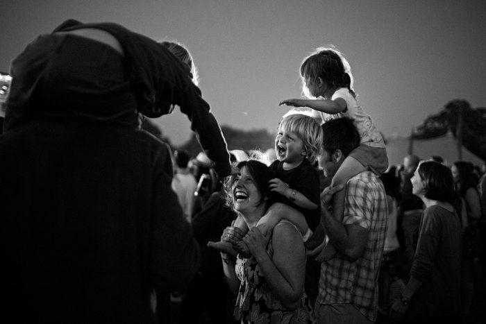 family at festival
