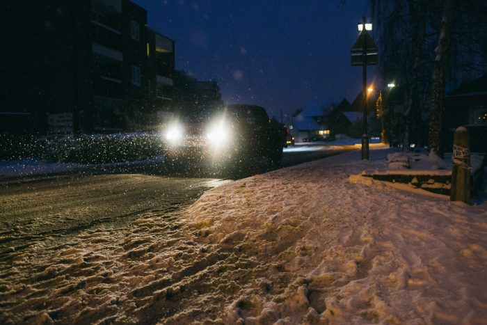 Car in snow south woodham