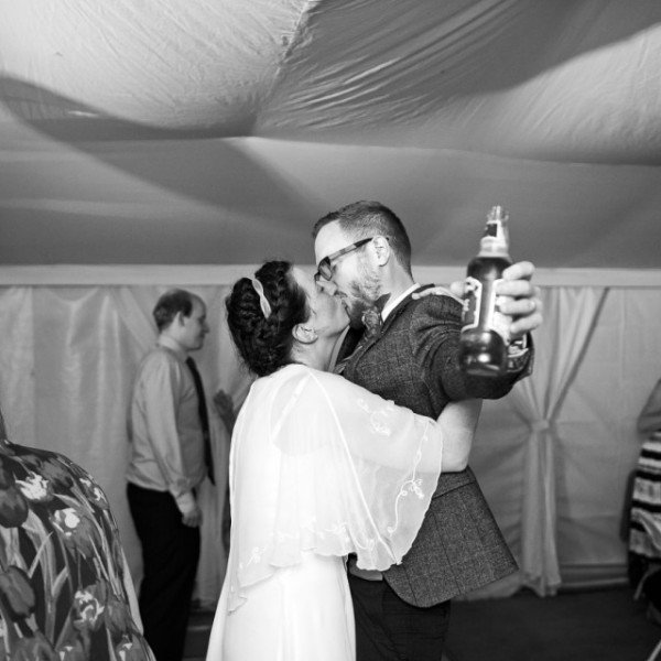 Kent wedding kiss