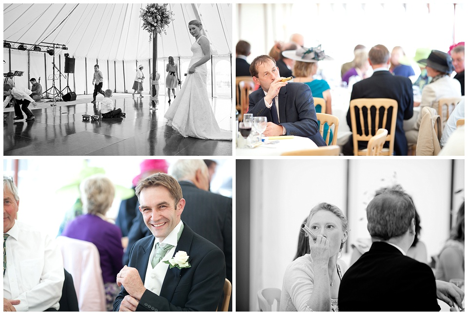 reception in a marquee