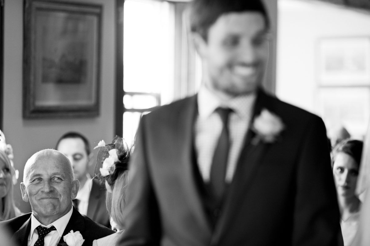 proud father documentary style wedding