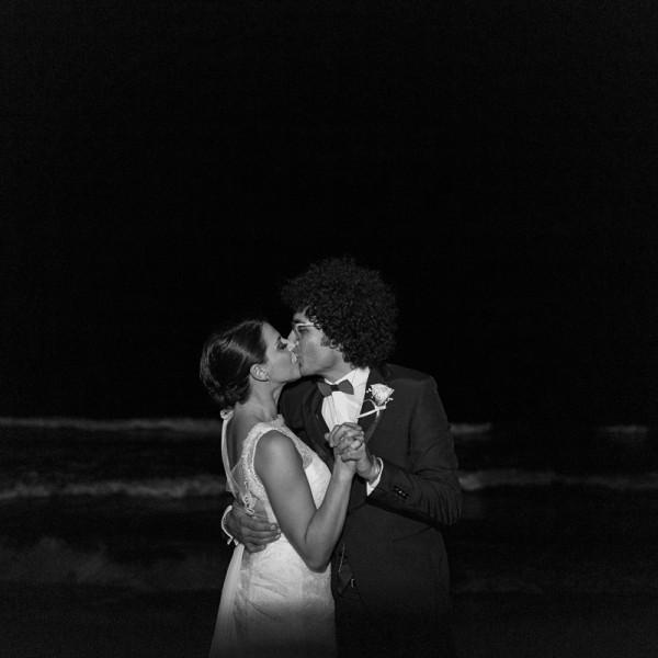 Italian wedding beach portrait