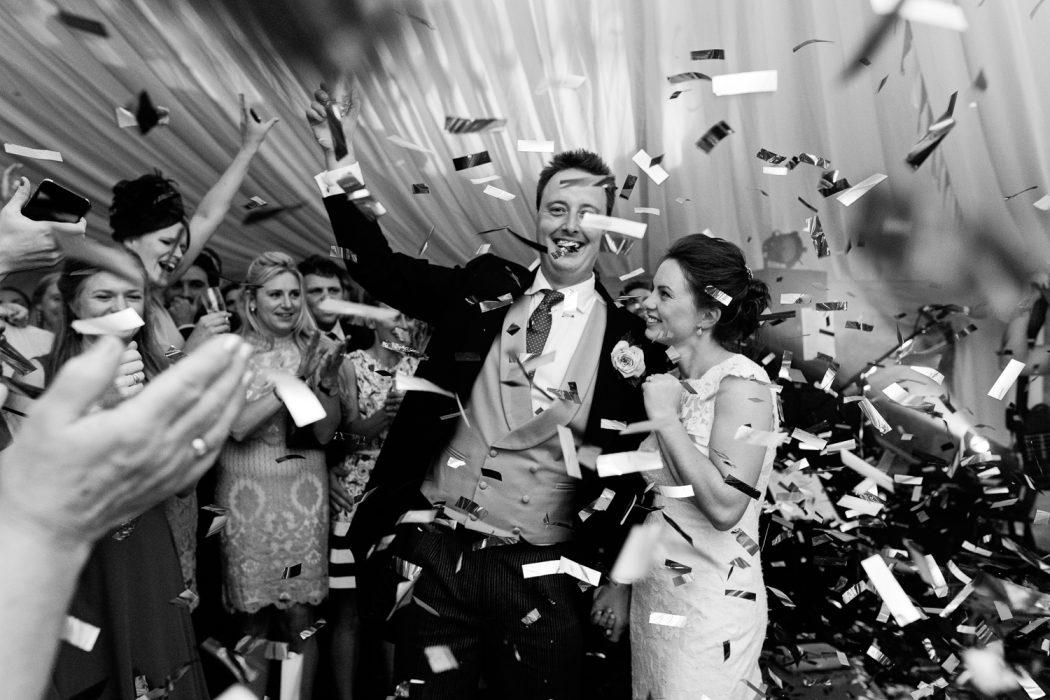 shropshire wedding confetti cannon